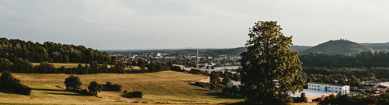 Ausblick über Pegnitz