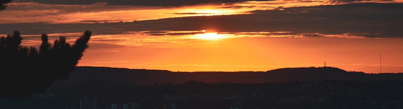 Wundervolle Sonnenuntergänge vom Eichelberg