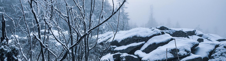 Der Haberstein am Westhang des Schneeberges