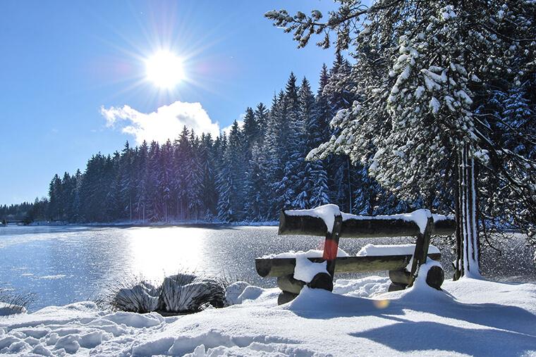 Schneespuren rund um den Ochsenkopf